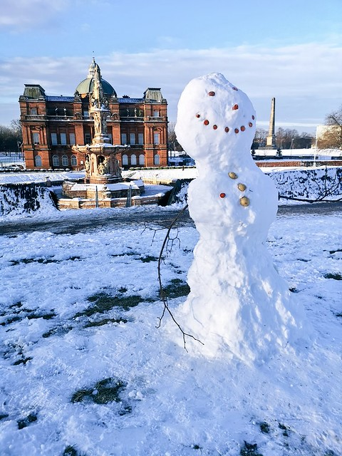 Snowman at The People's Palace