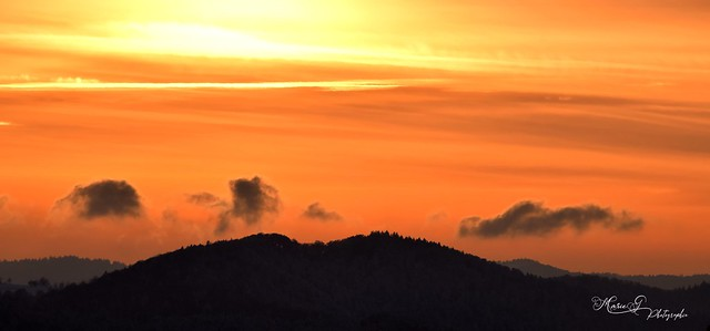 Joli ciel hier soir en altitude