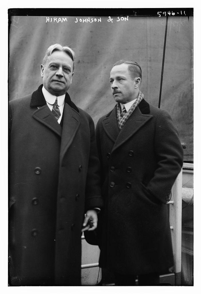Hiram Johnson and son (LOC)
