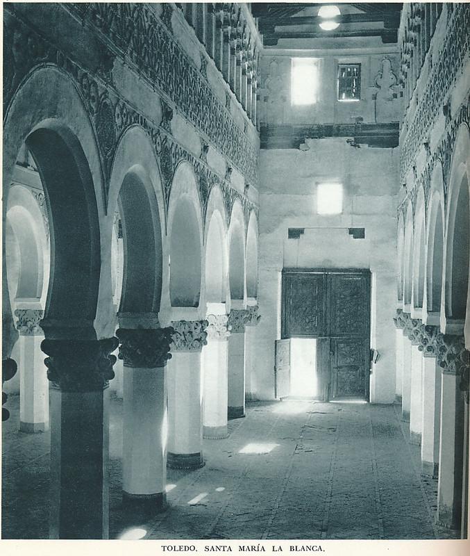 """Santa María la Blanca, sinagoga, en los años 50. Fotografía de Jean Dieuzaide, """"Yan"""""""