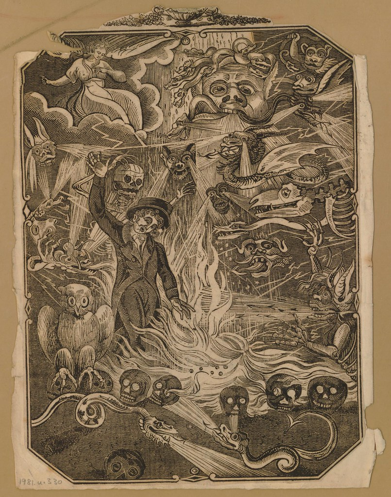 Wood Engraving of Hell, 1750-1850