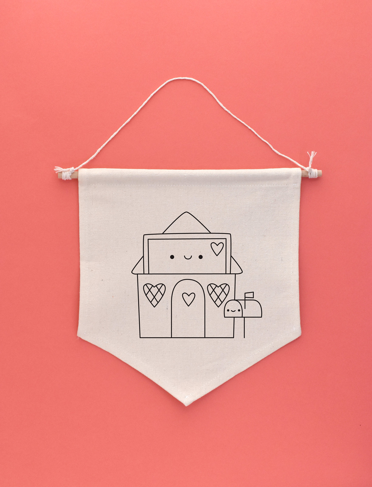 February Lovely Envelope House Embroidery Pattern