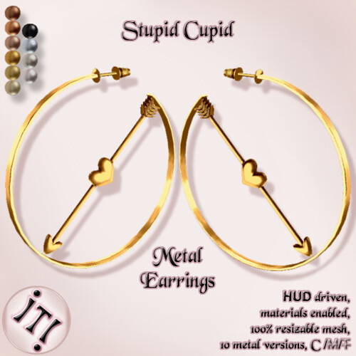 !IT! - Stupid Cupid Metal Earrings Image