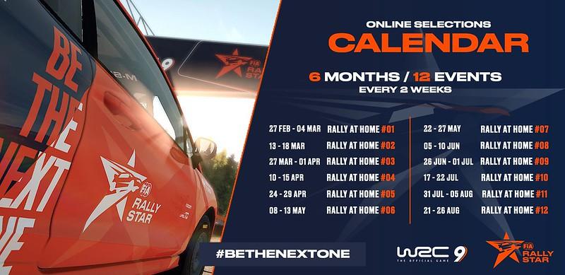 Rally Star Calendar 2021
