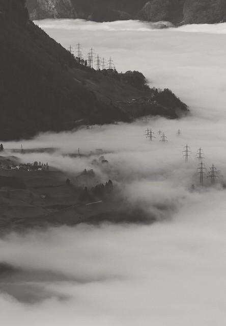 approaching fog upright