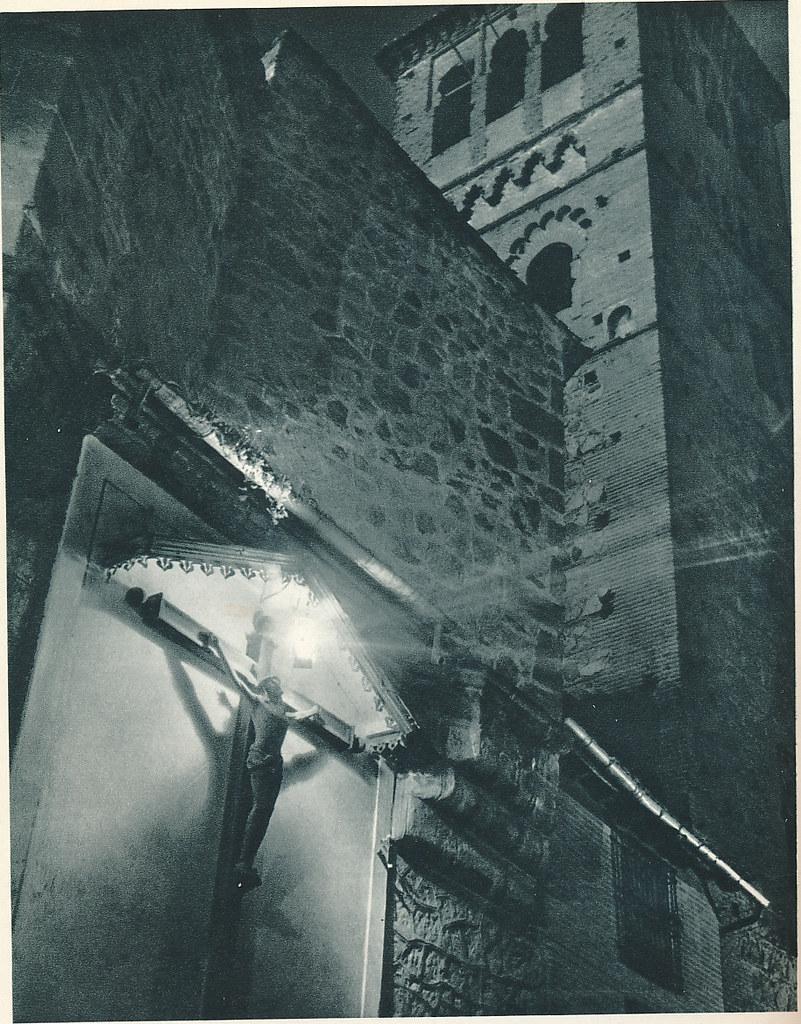 """Cristo de Santo Tomé hacia 1955. Fotografía de Jean Dieuzaide, """"Yan"""""""