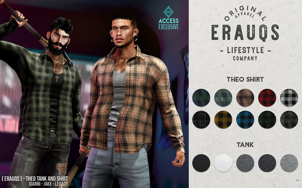 [ ERAUQS ] – Theo Tank and Shirt at ACCESS