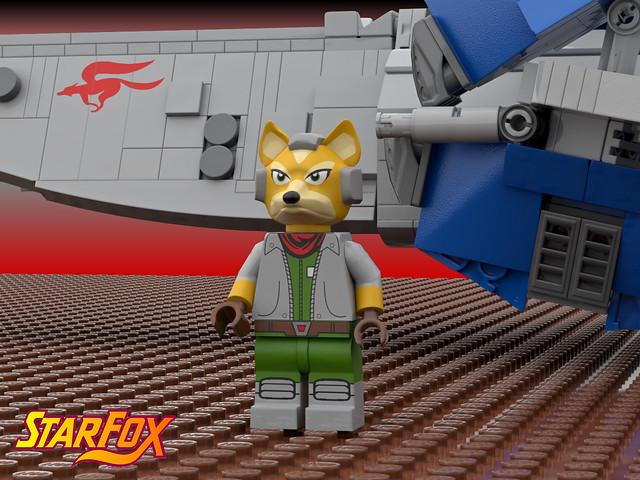 Fox McCloud ( Starfox, Nintendo, Lego )