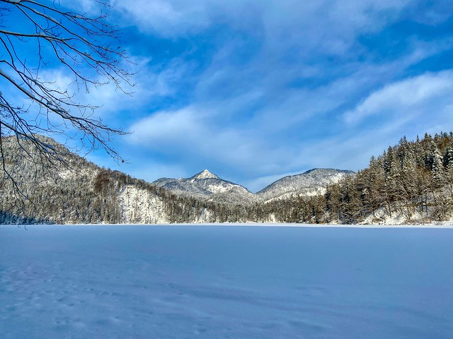 Winter at lake Hechtsee in Tyrol, Austria