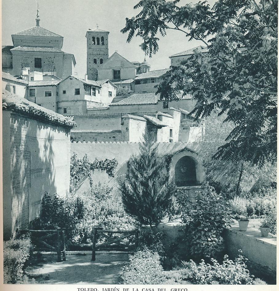 """Jardines del Museo del Greco. Fotografía de Jean Dieuzaide, """"Yan"""""""