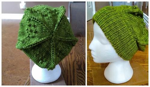 Here's Rita latest test knit...The Last Gambit Hat by Barbara Nalewko from @knittingilove using Malabrigo Rios in Lettuce.