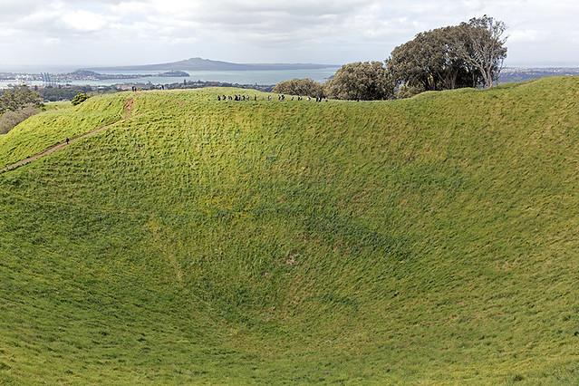 Nouvelle-Zélande - Auckland, Maungawhau (ou Mount Eden) / New Zealand - Auckland, Maungawhau (or Mount Eden)