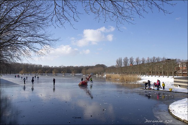The Netherlands enjoys the snow and ice!