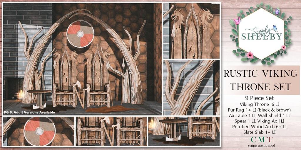 Simply Shelby Rustic Viking Throne Set