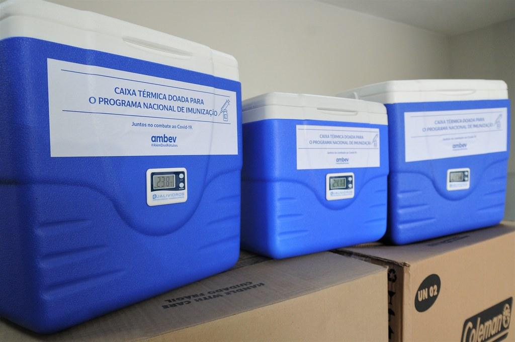 Saúde recebe 100 caixas térmicas para transporte de vacinas