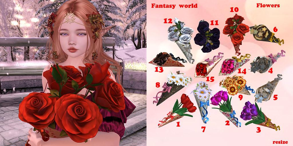 {Fantasy world} Flowers gacha