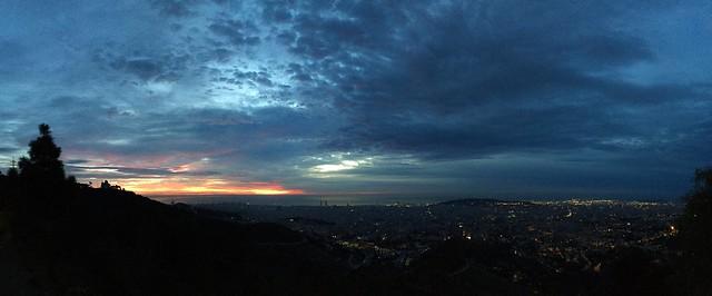 Today's sunrise in Barcelona