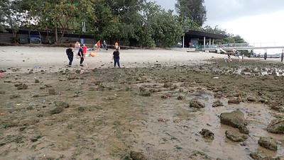 People at Punggol shore