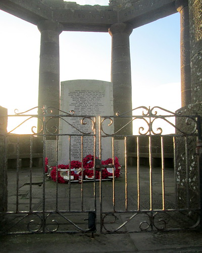 Wreaths and Panel with Great War Names, War Memorial, Stonehaven