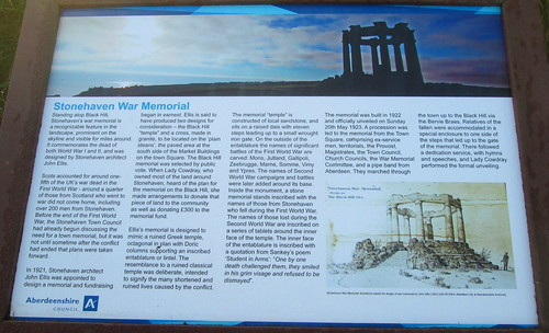 Information Board, Stonehaven War Memorial
