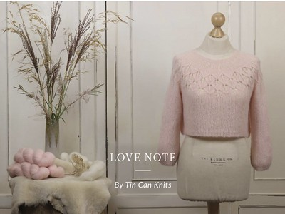 I was planning on knitting Austrina by Allison Jane for the Galentine's Day cast on but on second thought, I think I will knit Love Note by tincanknits using The Fibre Co. Cirro!