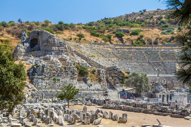 Armchair Traveling - The Theater at Ephesus, Turkey