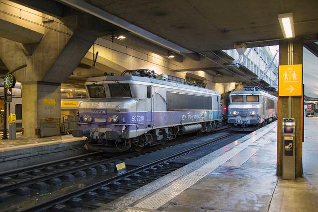 SNCF BB 7218 + 7204 Gare de Paris Montparnasse