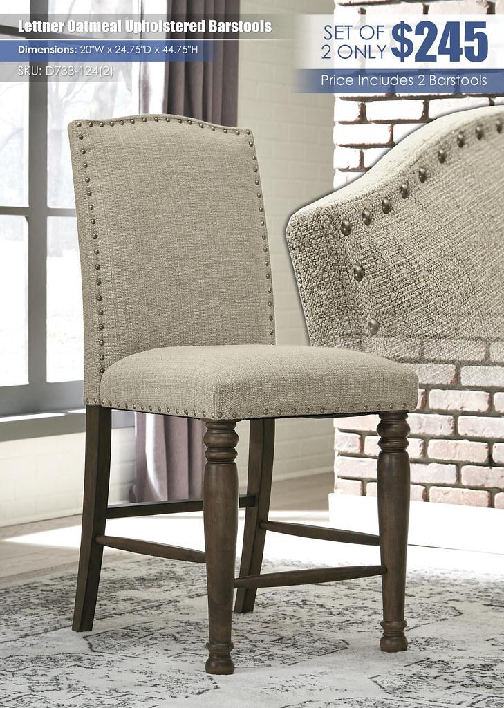 Lettner Upholstered Barstools_D733-124