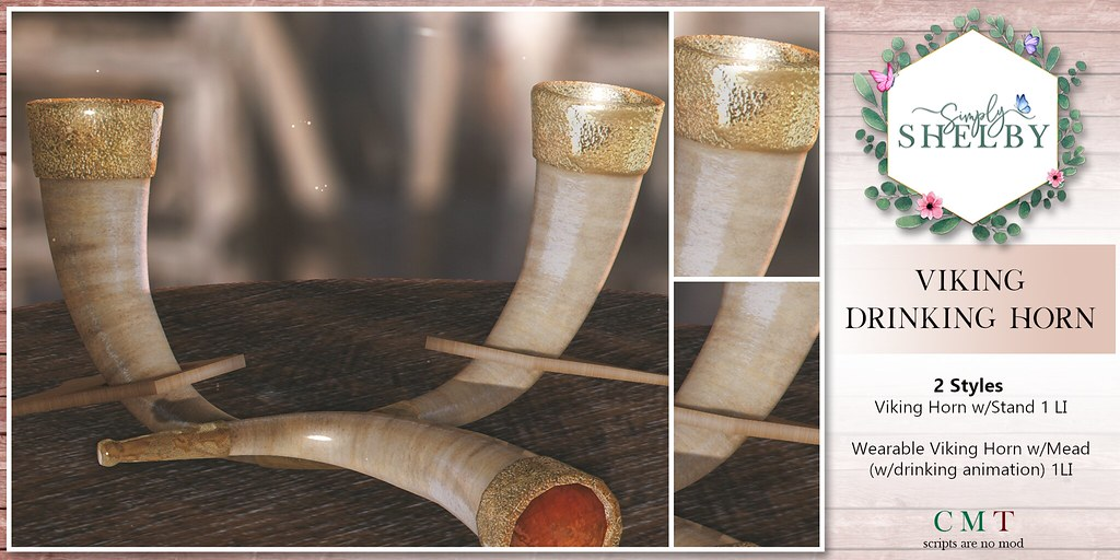 Simply Shelby Viking Drinking Horn Set