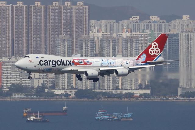 LX-VCM, Boeing 747-8F, Cargolux, Hong Kong