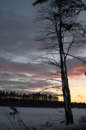 nature sunset field pond massachusetts andover cloud skyscape lake snow frozen silhouette winter haroldparker trees red landscape color