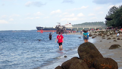 Shipping next to Punggol shore