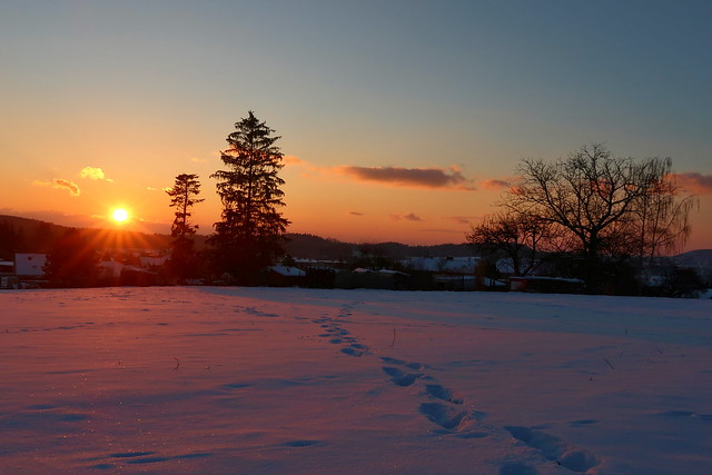 Winter evening ...