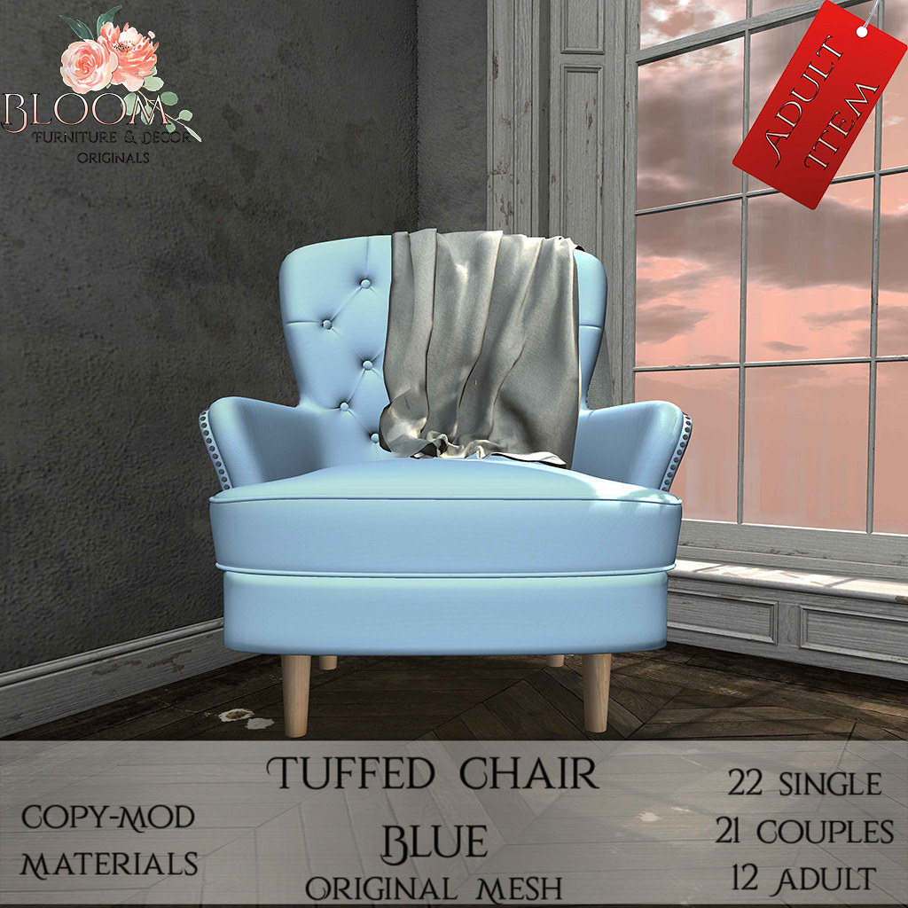 Bloom! – Tuffed Chair Blue (A)AD