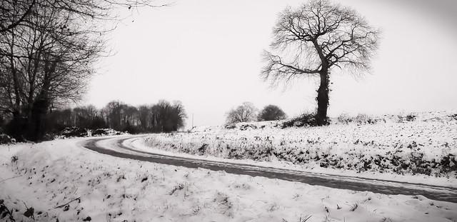 Route enneigée.