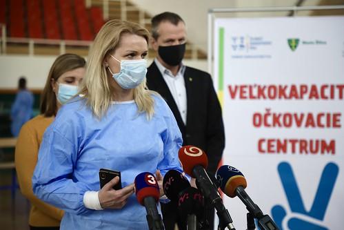 Veľkokapacitné očkovacie miesto vŽilinskom kraji