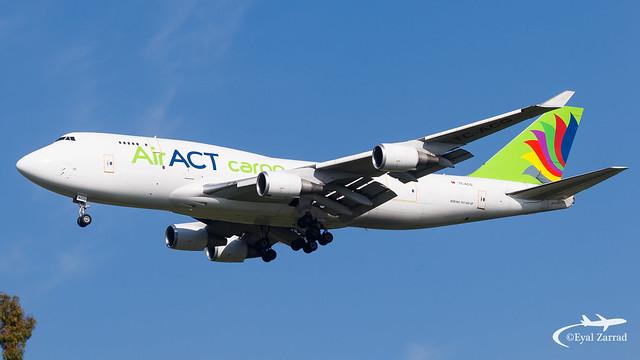 TLV - Air ACT Cargo Boeing 747-400F TC-ACG