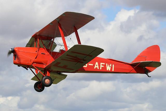 G-AFWI  -  De Havilland DH-82 Tiger Moth II c/n 82187  -  EGBK 1/9/19