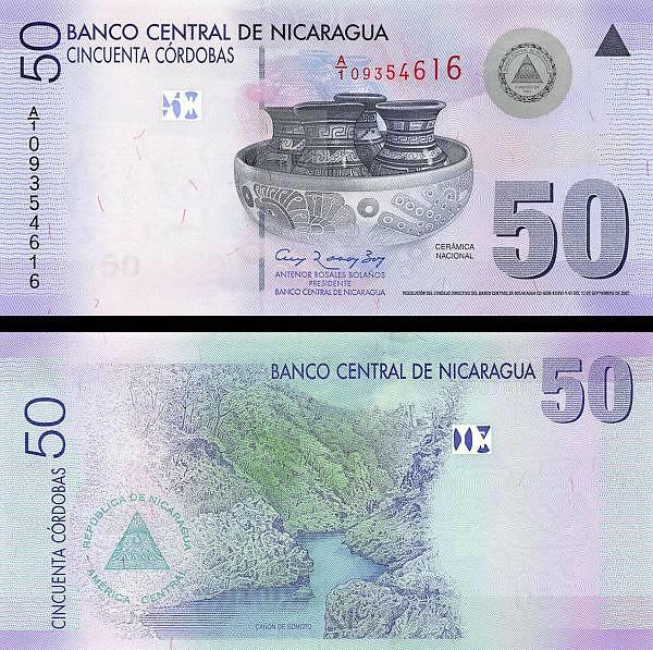 50 Córdobas Nikaragua 2007 (2012) P203a