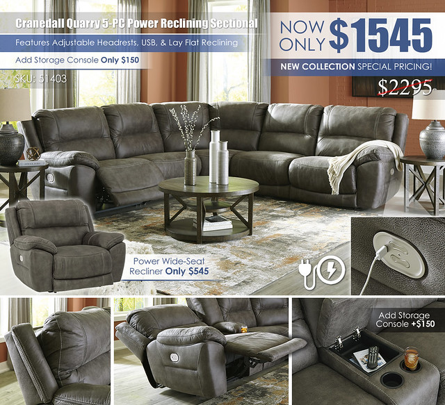 Cranedall Quarry 5PC Reclining Sectional_51403_Update