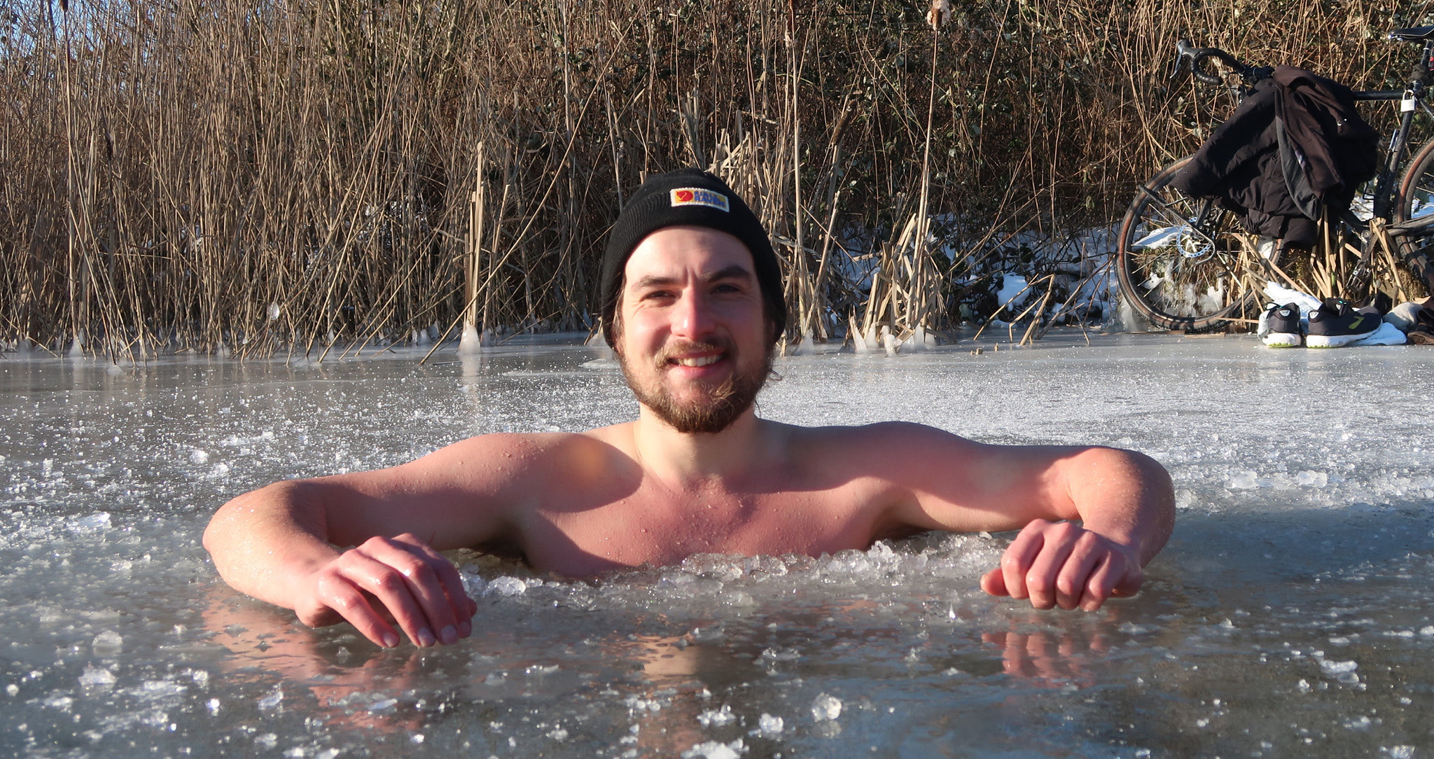 Dip in the ice