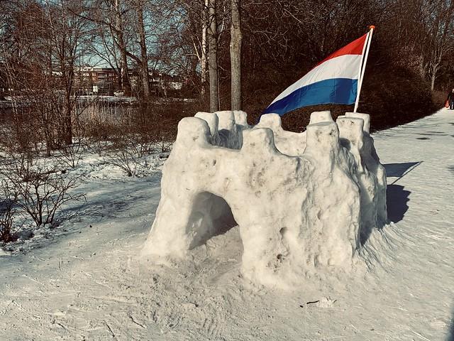 Winter scenes in Oegstgeest (The Netherlands 2021)