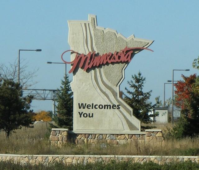 Entering Minnesota