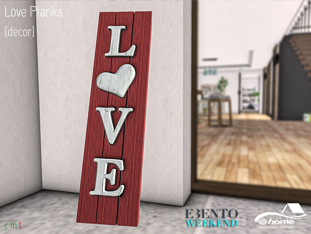 eBento Weekend: love planks @home