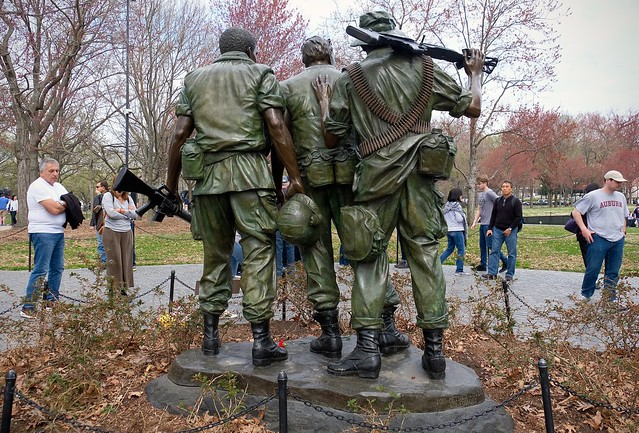 Three Soldiers and Eight Tourists