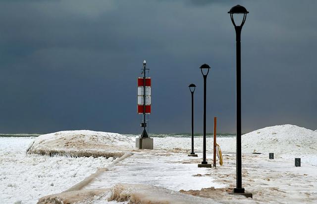 Frozen Bayfield Pier
