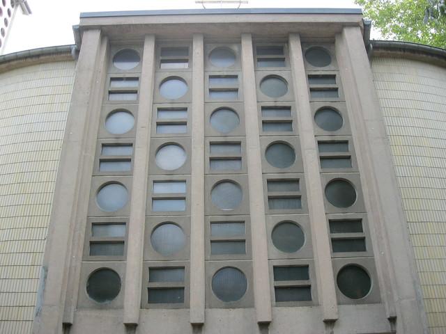 1956 Berlin-W. Bauschmuck katholische Kirche St. Aloysius von Felix Hinssen Schwyzer Straße 2 in 13349 Wedding