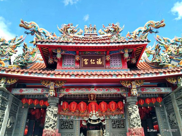 """Visit Taoyuan temple""""Furengong""""(桃園大溪老街福仁宮) and pray for happiness & heath on first day of CNY on Feb 12, 2021."""