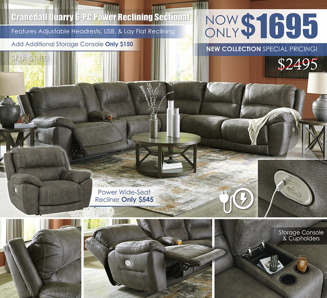 Cranedall Quarry 6PC Reclining Sectional_51403_Update