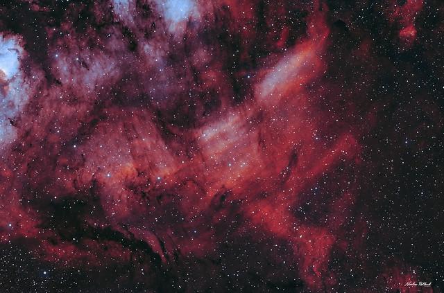 The Faint Emission Nebula (IC 5068) in Cygnus - HOO (RGB Stars)